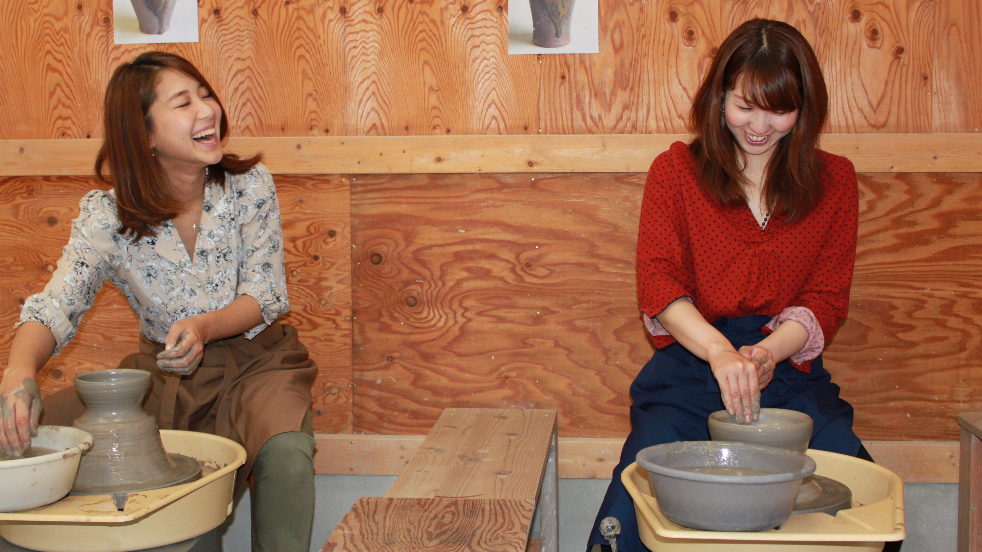 陶ギャラリーRoppo六鵬窯でろくろ体験